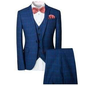 Costume de mariage slim à carreaux Gentlemen (Vendeur tiers)