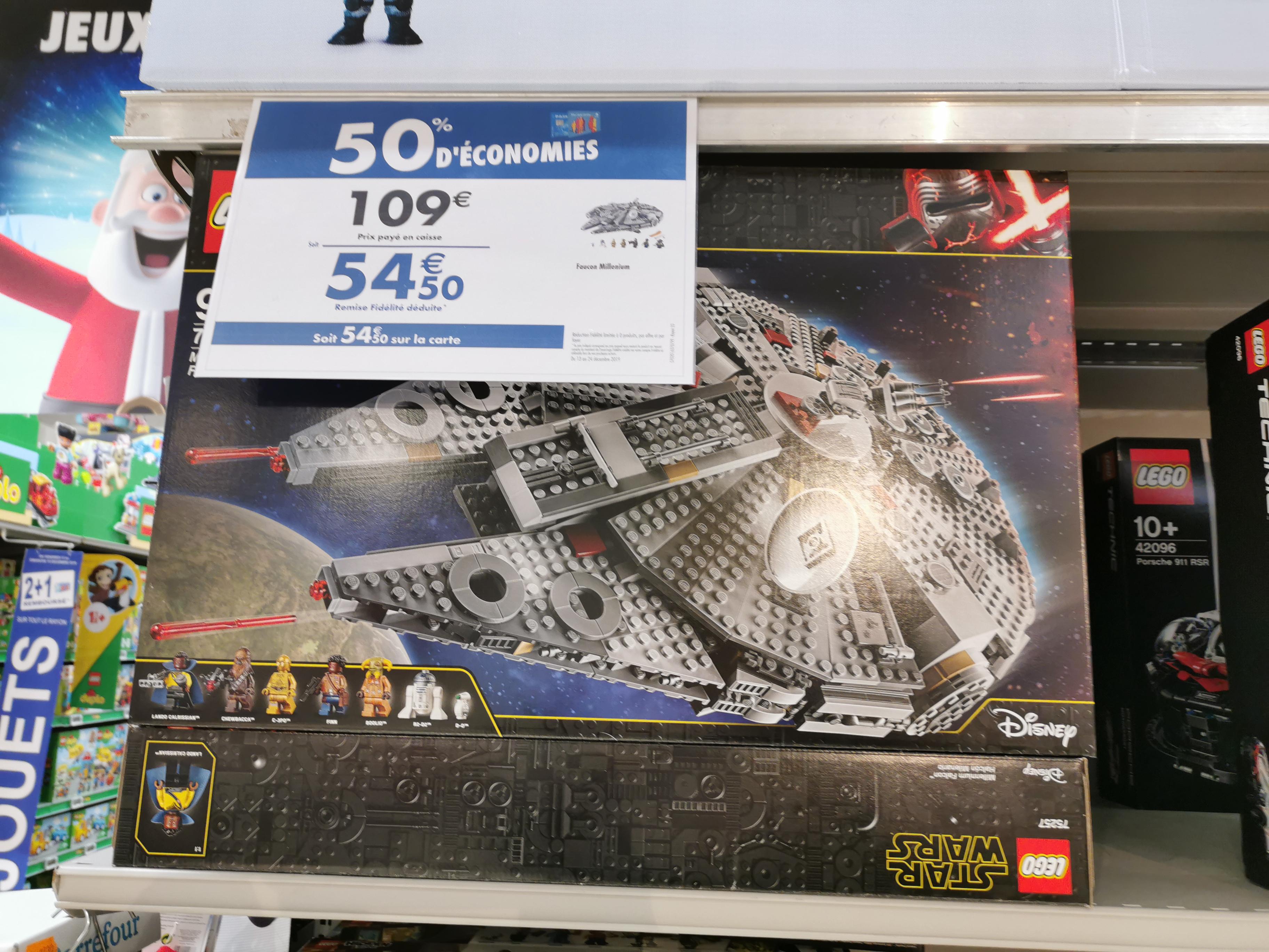 Lego Star Wars 75257 Millenium Falcon (Via 54.50€ sur la Carte Fidélité)