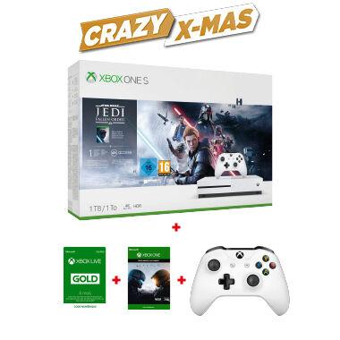Sélection de Packs console Xbox One S + 2 jeux + 6 mois de live + 2eme manette