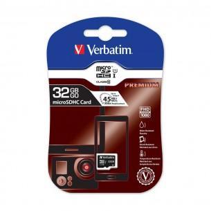 Carte microSDHC Verbatim Classe 10 UHS-I 45 MB/s - 32 Go