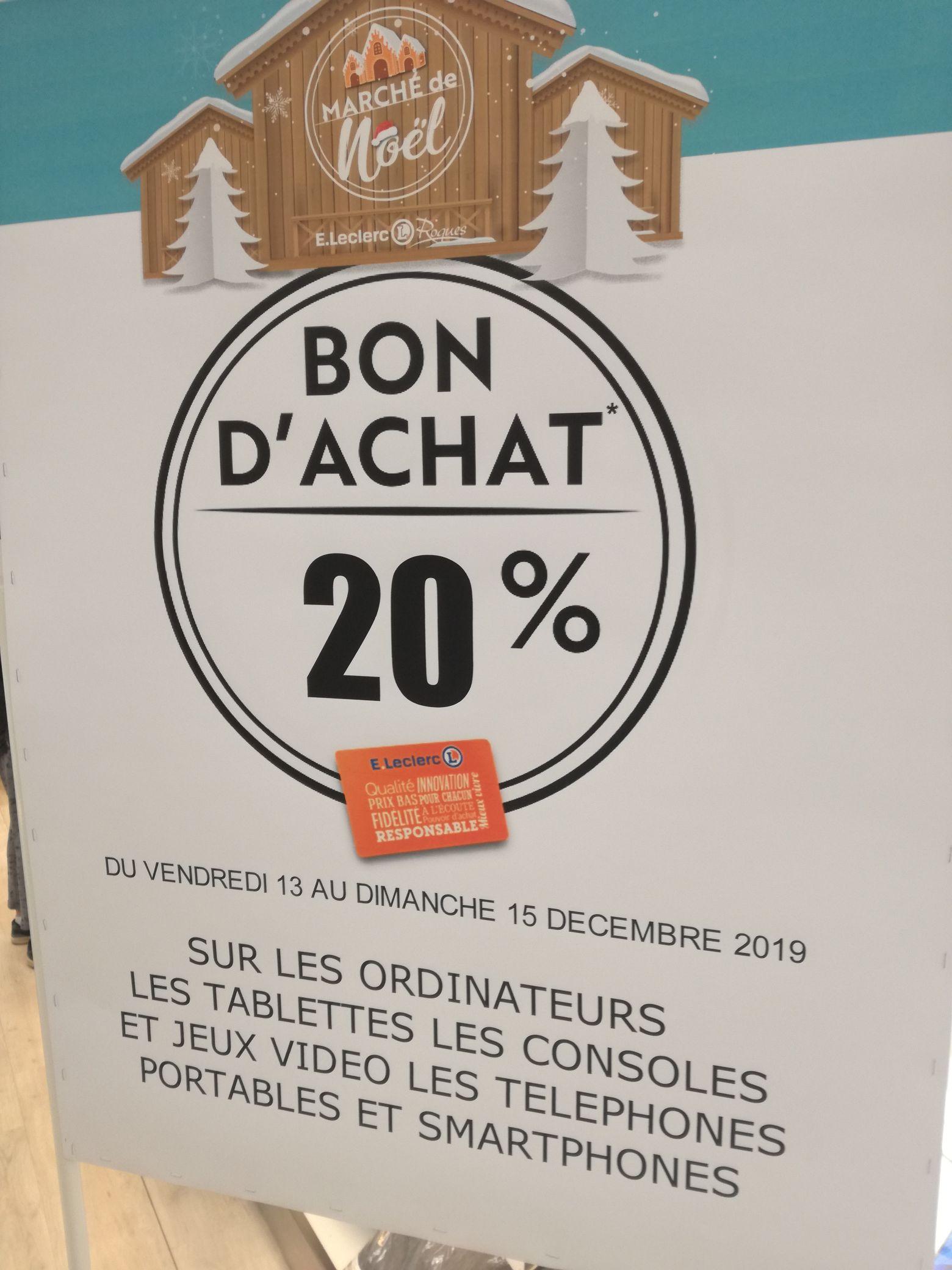 20% en bon d'achat sur les smartphones/ordinateurs/jeux vidéo - Roques sur Garonne (31)