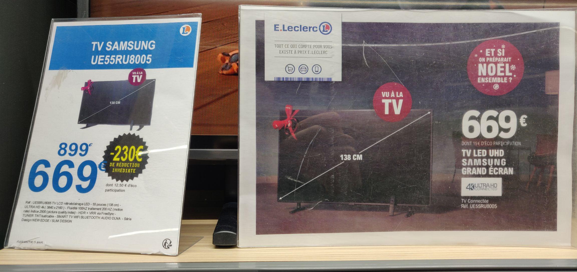 "TV 55"" Samsung UE55RU8005 - UHD 2019 (via 200€ en 5 Bon d'achats) - Neufchâtel en Bray (76)"