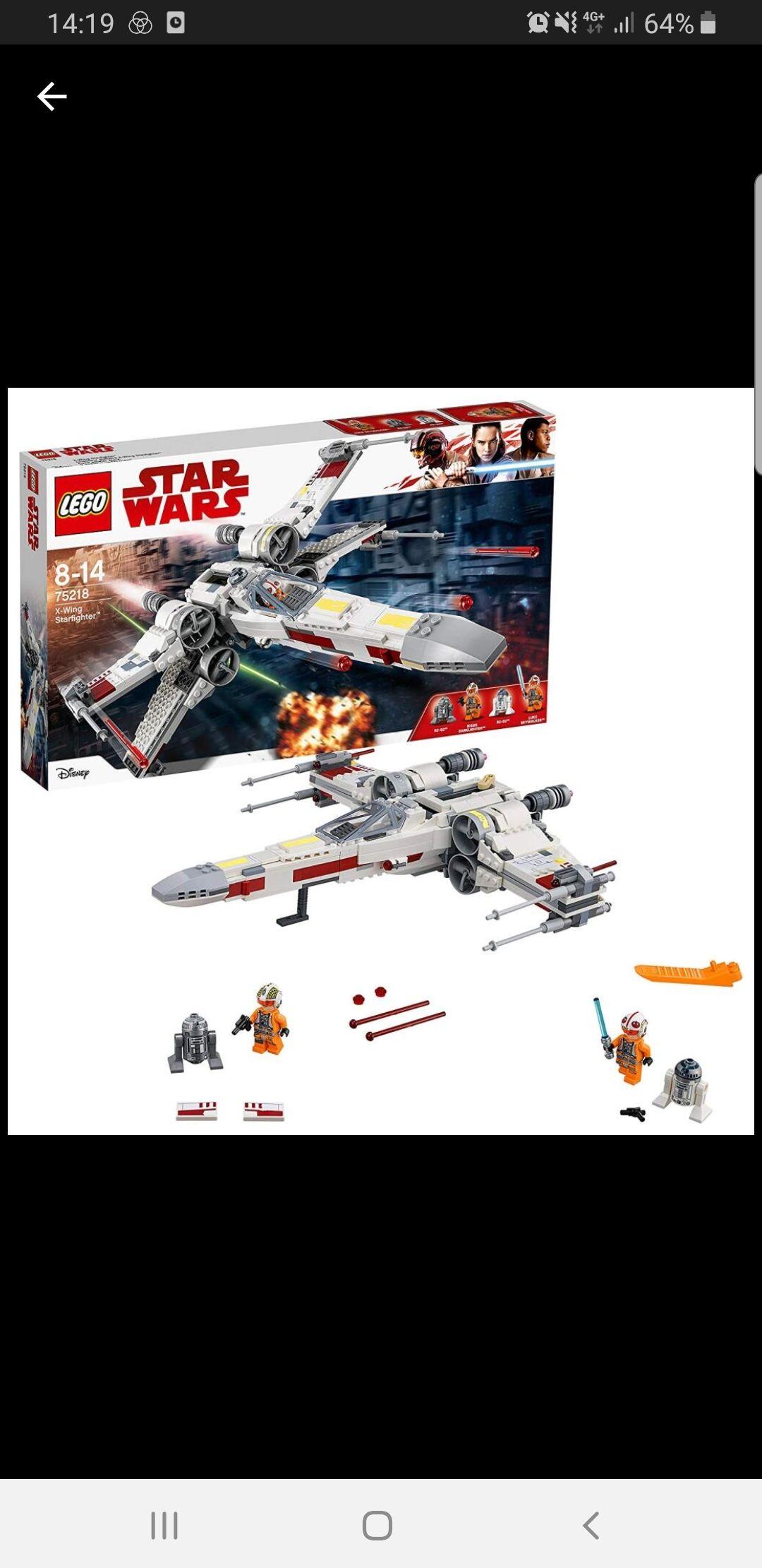 Jeu de Construction Lego Star Wars 75218 - Chasseur stellaire X-Wing Starfighter (Via 32.45€ sur la Carte) - Claye Souilly(77)