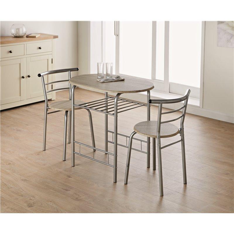 Table + 2 chaises - 80x53x74cm