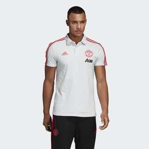Polo football adidas Manchester United - blanc, Taille XS