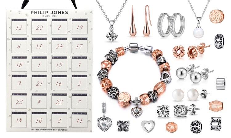 Calendrier de l'avent 24 bijoux et charms dont certains ornés de cristaux Swarovski