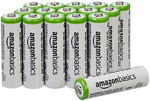 Lot de 16 piles rechargeable AmazonBasics Ni-MH Type AA 2000 mAh