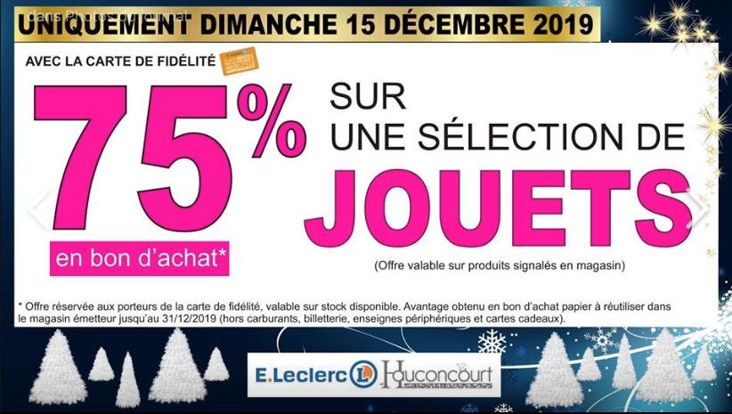 75% remboursés en bon d'achat sur une sélection de jouets - Hauconcourt (57)