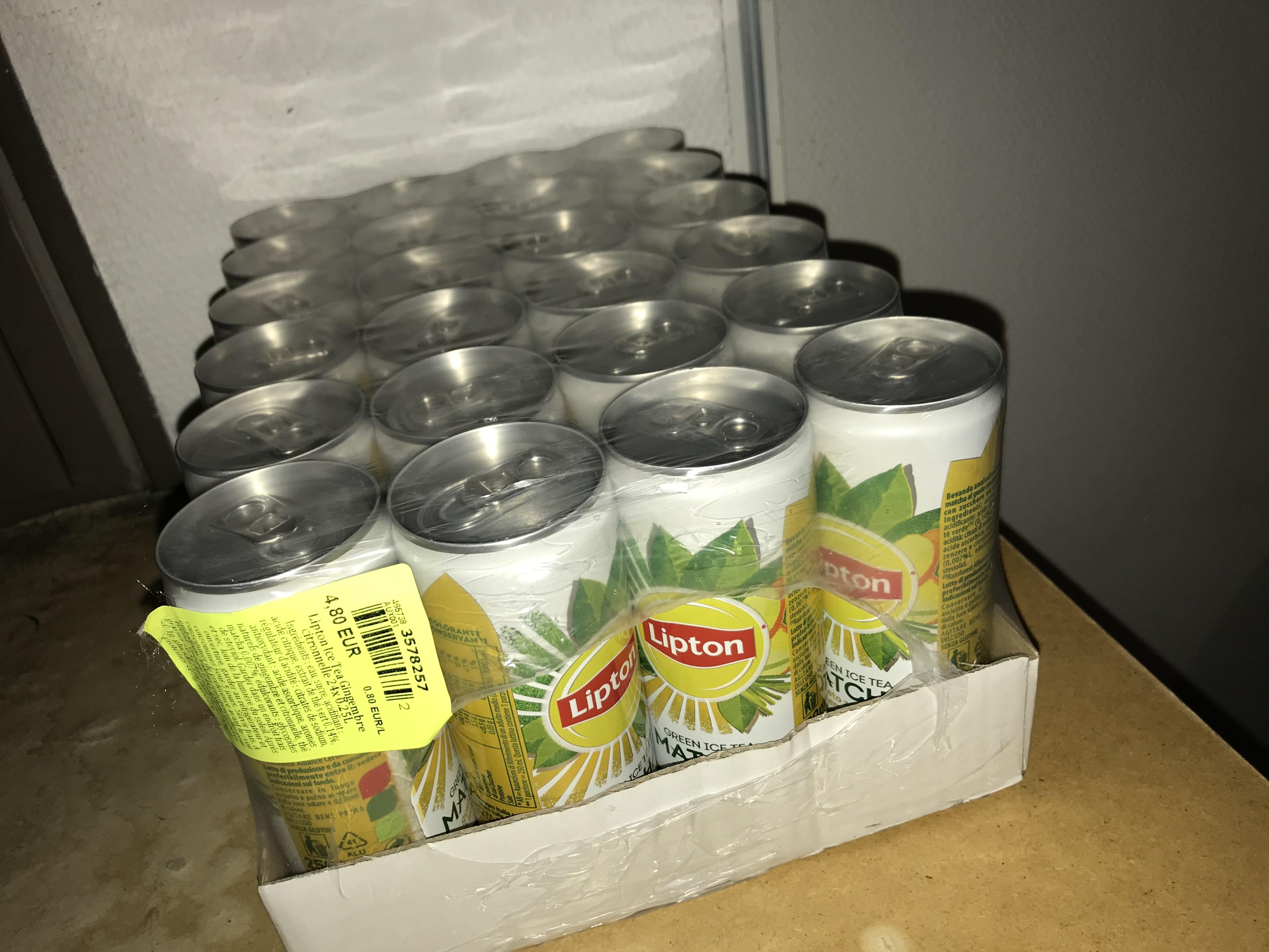 Pack de 24 canettes de Lipton Ice Tea Gingembre Citronnelle - 25 cl (Saint-Parres-aux-Tertres 10)