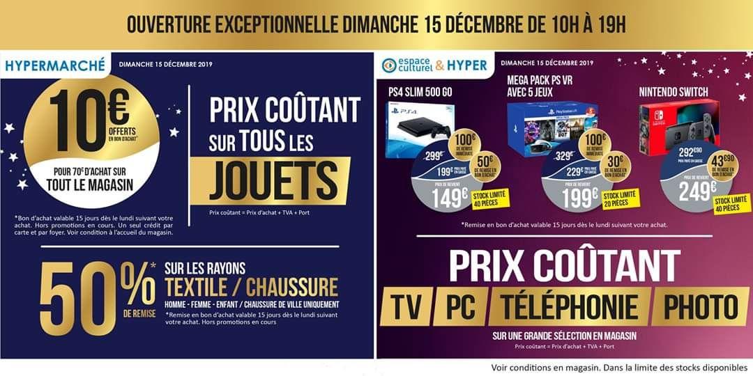 Sélection de consoles de jeu en promotion - Ex : PS4 500 Slim Go (Via 50€ en bon d'achat - Leclerc Quimper 29)