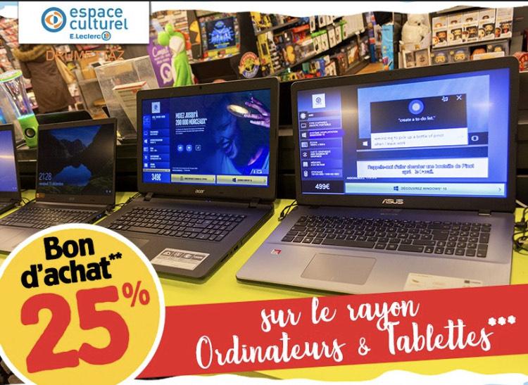 25% remboursé en bon d'achat sur les Ordinateurs, Tablettes, le petit électroménager, Maison, beauté - Drumettaz (73)