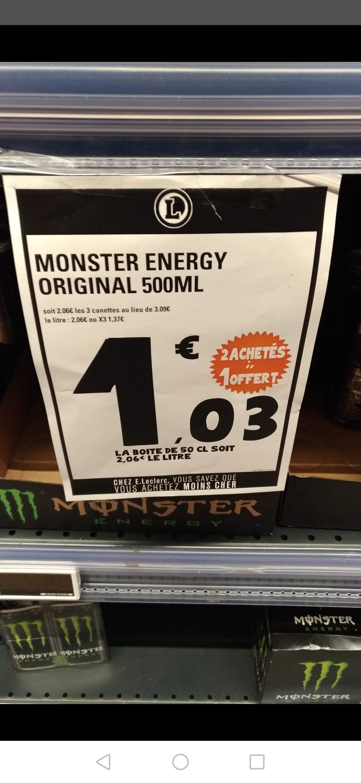 2 + 1 cannettes de monster original 500ml