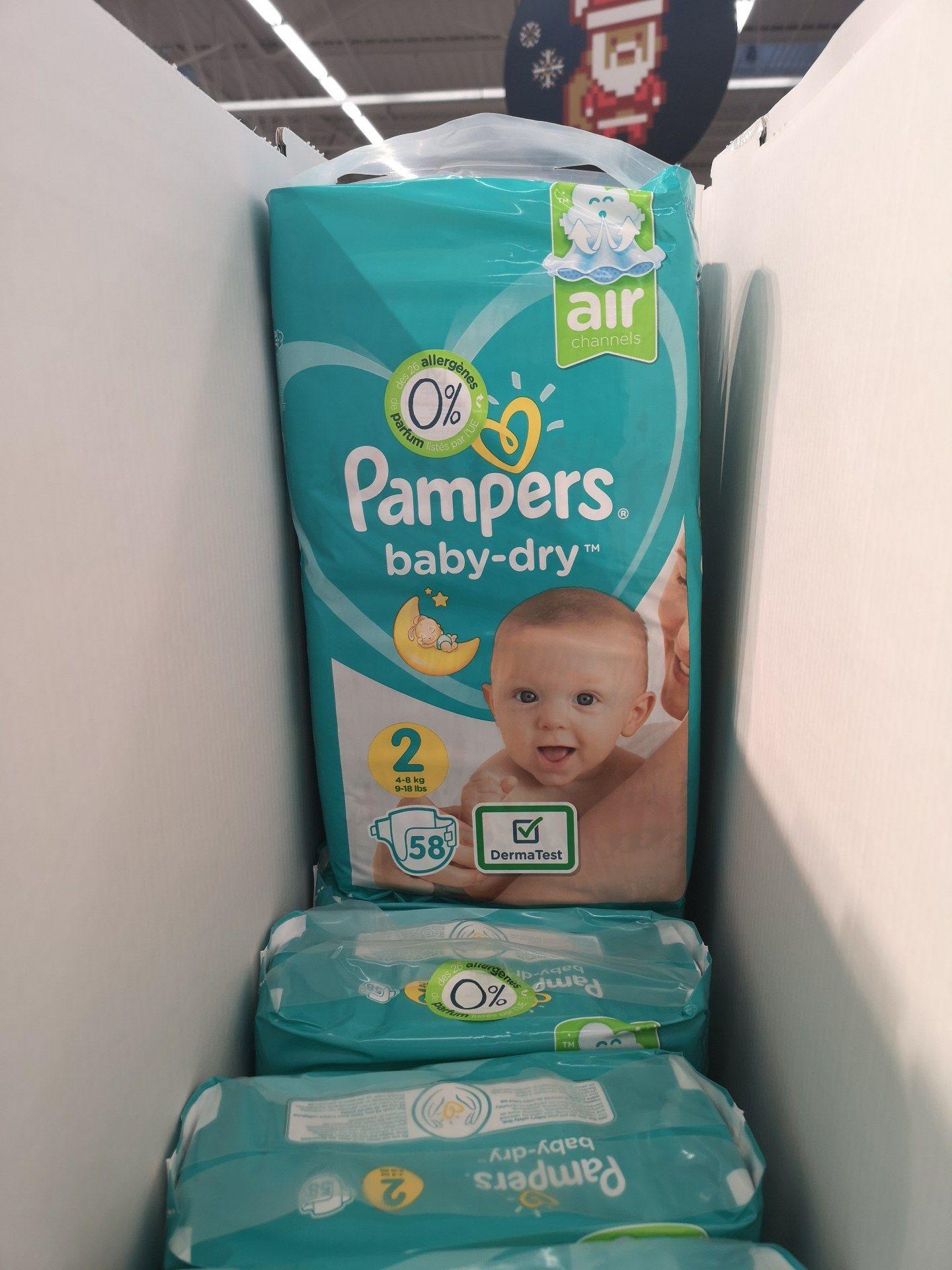 Lot de 2 paquets de 58 couches Pampers Baby Dry - Tours Nord La Petite Arche (37)