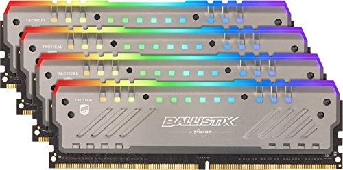 Kit mémoire DDR4 Crucial Ballistix Tactical Tracer RGB 64 Go (4 x 16 Go) - 2666 MHz, CL16