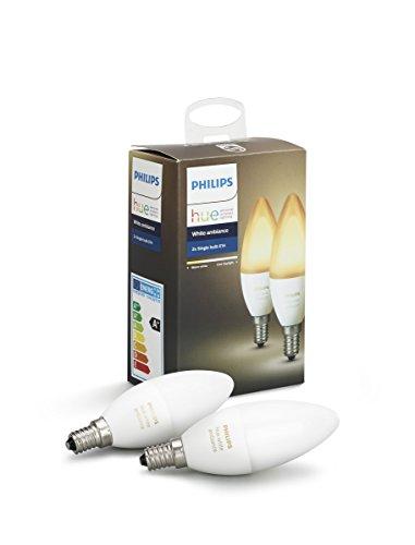 Lot de 2 ampoules flamme Philips Hue White Ambiance - E14, 6W