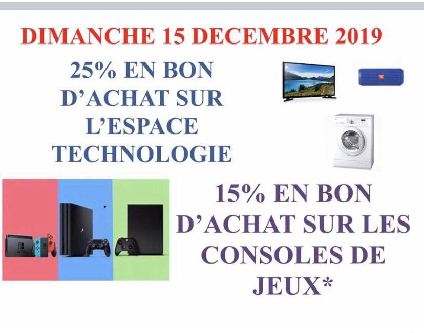 25% remboursés en bon d'achat sur tout l'espace technologique - Joué-lès-Tours (37)