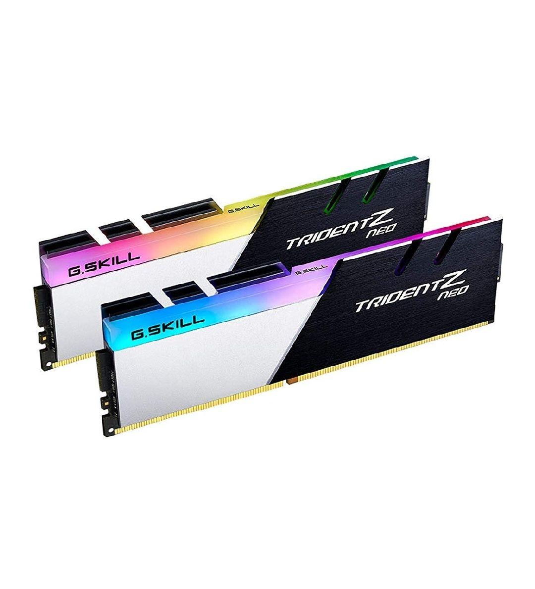 Kit mémoire RAM G.Skill TridentZ Neo RGB 16Go (2 x 8 Go) - 3600Mhz, CL16, XMP 2.0