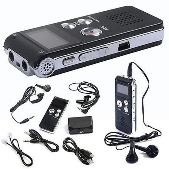 Dictaphone rechargeable - 8 Go (Vendeur Tiers)
