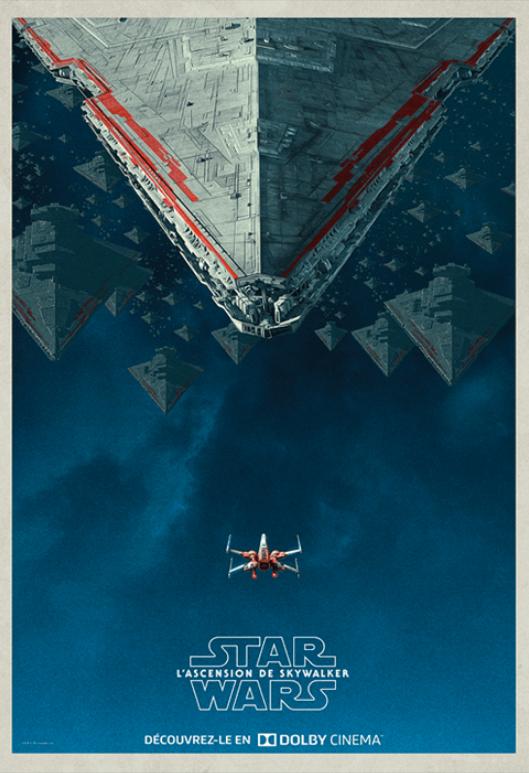 Affiche Star Wars : L'Ascension de Skywalker offerte pour toute place achetée pour la projection du film le 18/12
