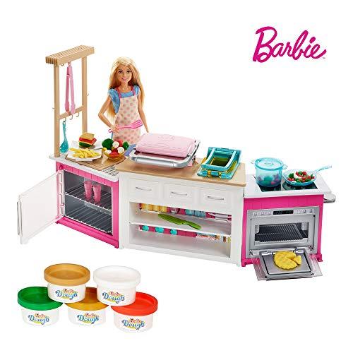 Coffret poupée cheffe avec kit cuisine Barbie Métiers (FRH73)