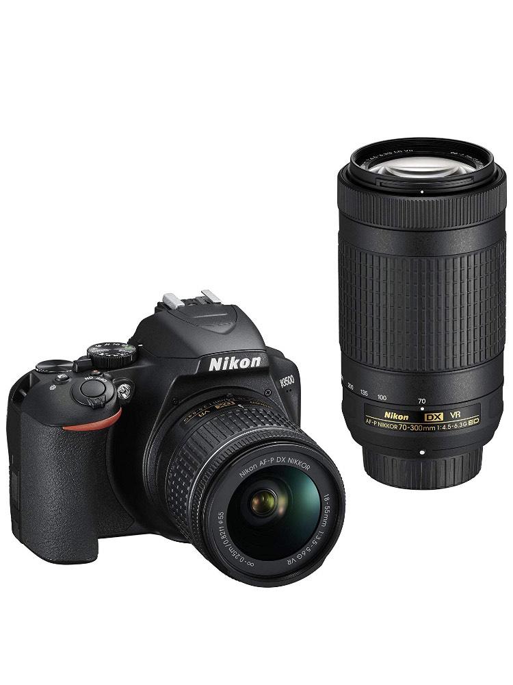 Nikon Kit Reflex numérique D3500 + Objectif AF-P DX 18-55 f/3.5-5.G VR + Objectif AF-P DX 70-300 f/4.5-6.3G Ed VR