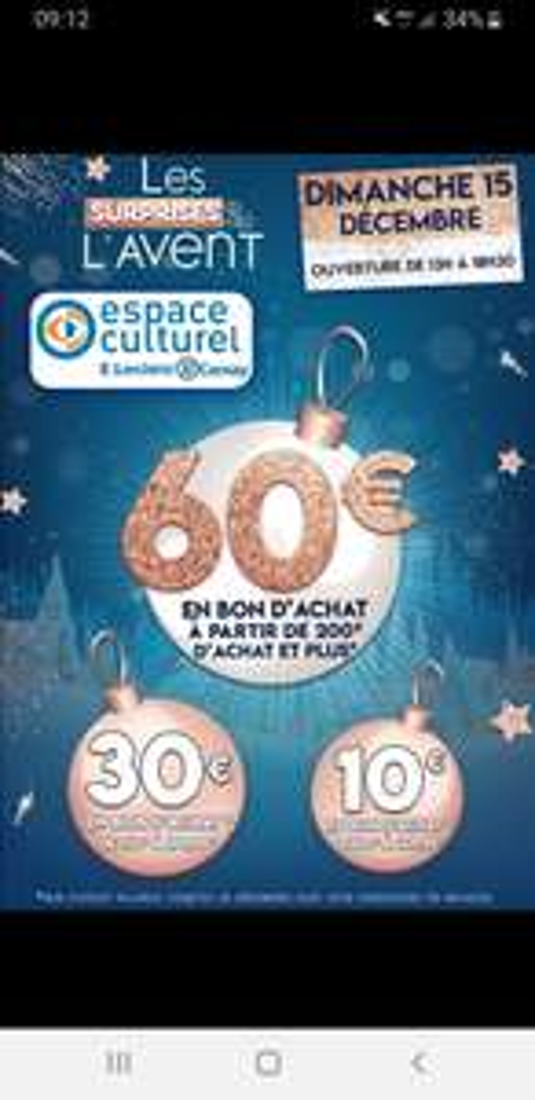 10€ en bon d'achat dès 100€, 30€ dès 150€ et 60€ dès 200€ d'achat - Cernay (68)
