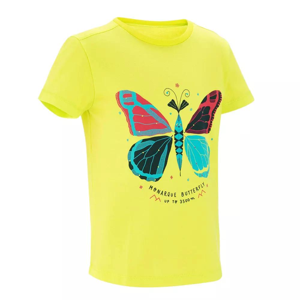 T-shirt de randonnée Enfant - Jaune