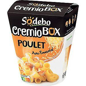 Boîte de pâtes Sodebo Cremiobox Poulet avec Emmental - 280 g