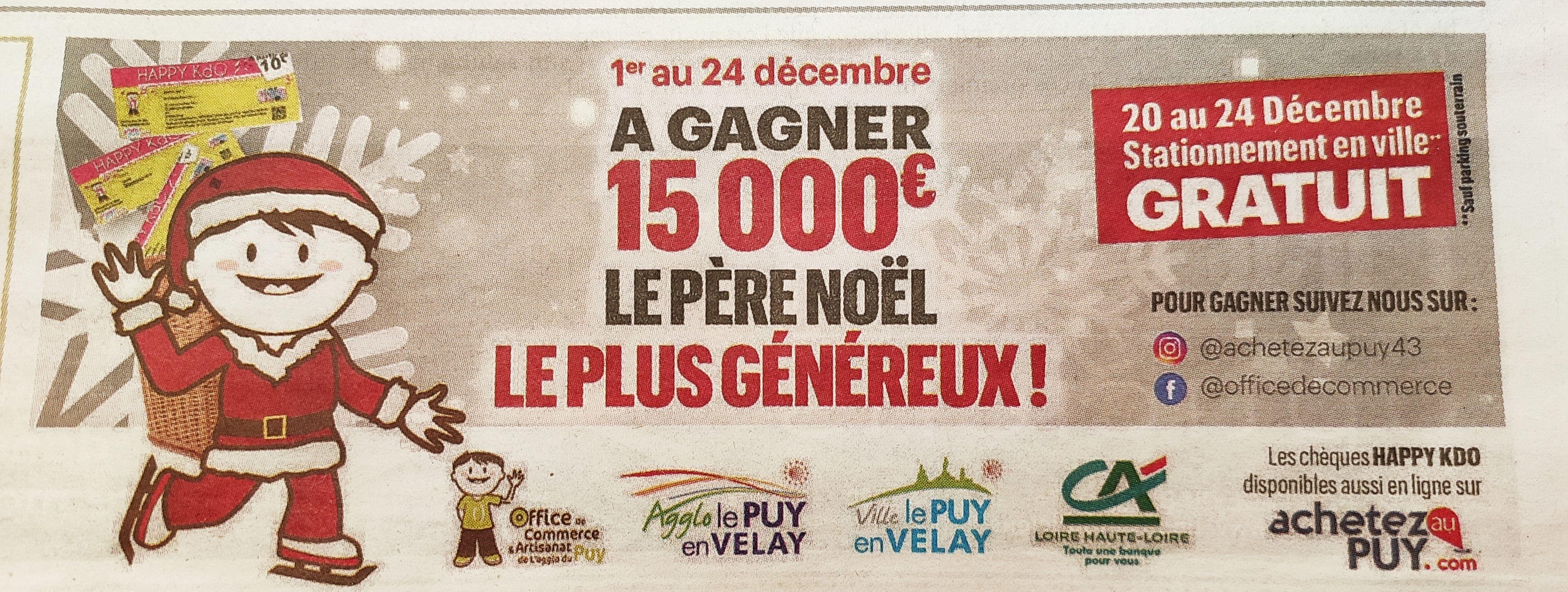 Stationnement gratuit en ville - Puy-en-Velay (43)