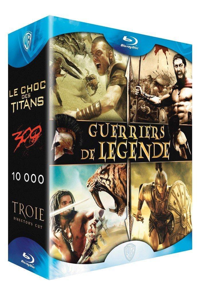 Coffret Blu-ray Guerriers de légende (Le choc des titans + 300 + 10 000 + Troie)