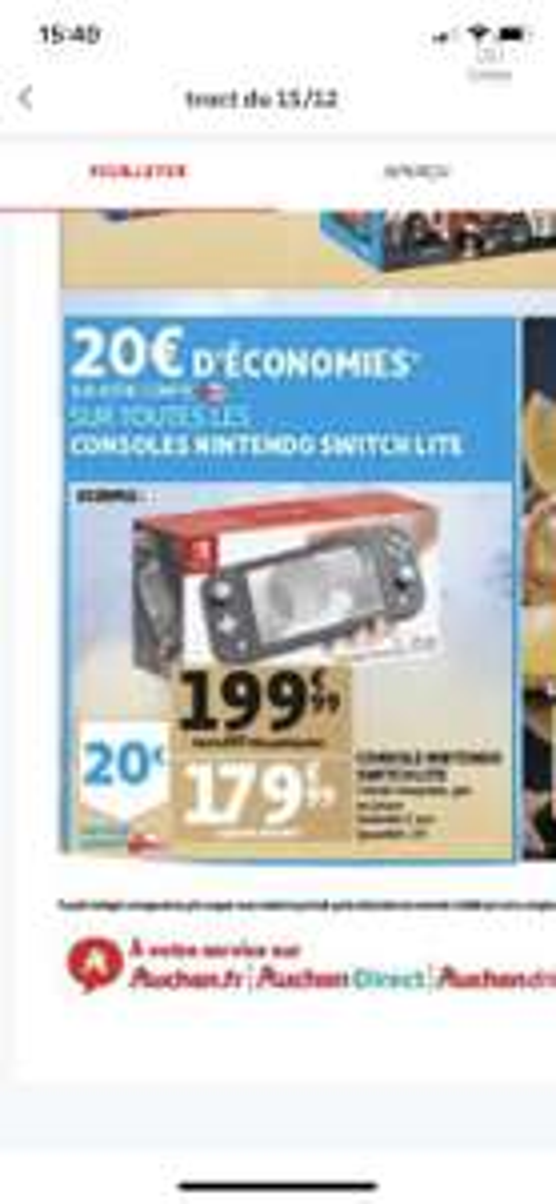 Console Nintendo Switch Lite (Via 20€ sur carte fidélité) - Epagny (74)