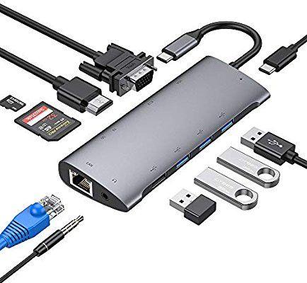Hub USB-C 11 en 1 (Vendeur tiers)