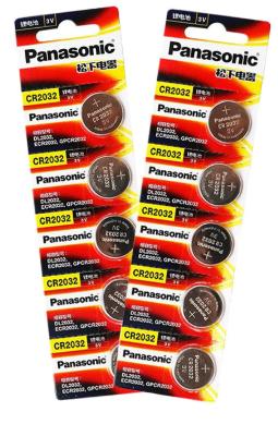 Lot de 10 piles Panasonic cr2032