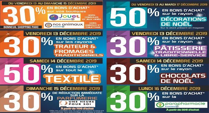 De 30% à 50% de remise en bons d'achat sur plusieurs rayons - Bonneuil-sur-Marne (94)