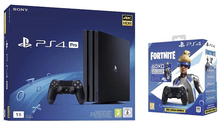 Console Sony PS4 Pro 1 To G - Noir + Manette Dual Shock 4 V2 pour PS4 + Code Fortnite + 2e manette