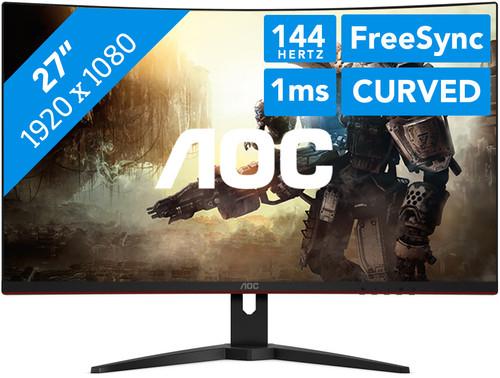 """Écran PC incurvé 27"""" AOC C27G1 - full HD, LED VA, 144 Hz, 1 ms (Frontaliers Belgique - coolblue.be)"""