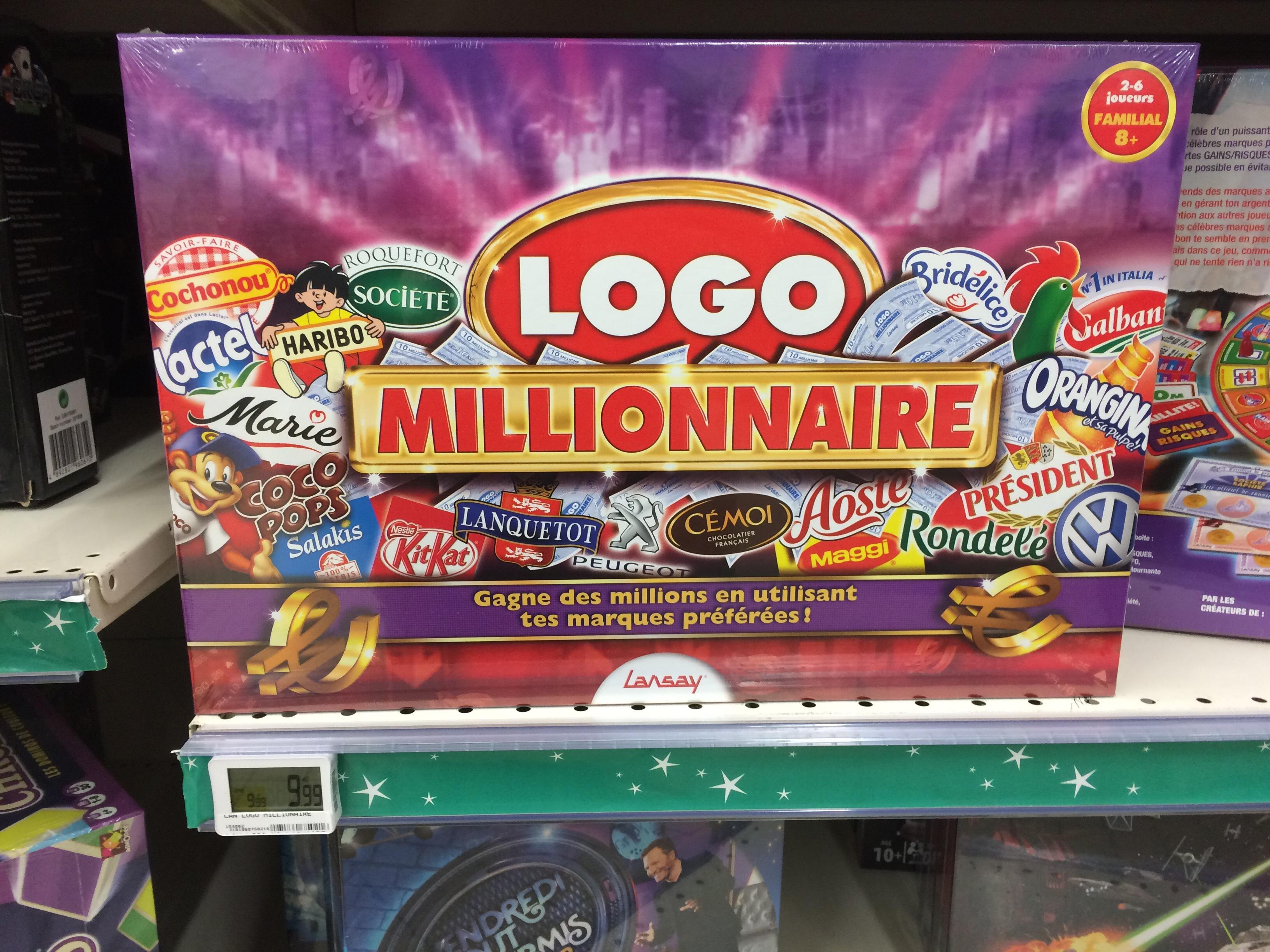 Jeu de Société Logo Millionnaire