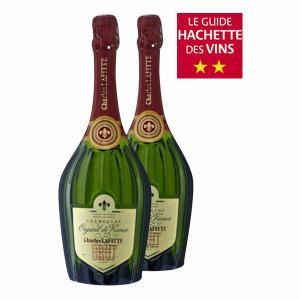1 Bouteille de Champagne Charles Lafitte Grande Cuvée ou Rosé Orgueil de France + 1 Bouteille Normale Brute - 2 x 75cl