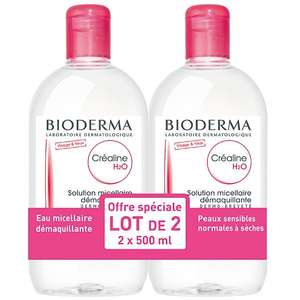 Lot de 2 Solutions micellaire Bioderma Créaline H2O