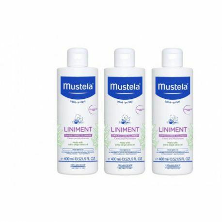 Lot de 3 bouteilles de Liniment Mustela - 3 x 400Ml (pharmacasse.fr)