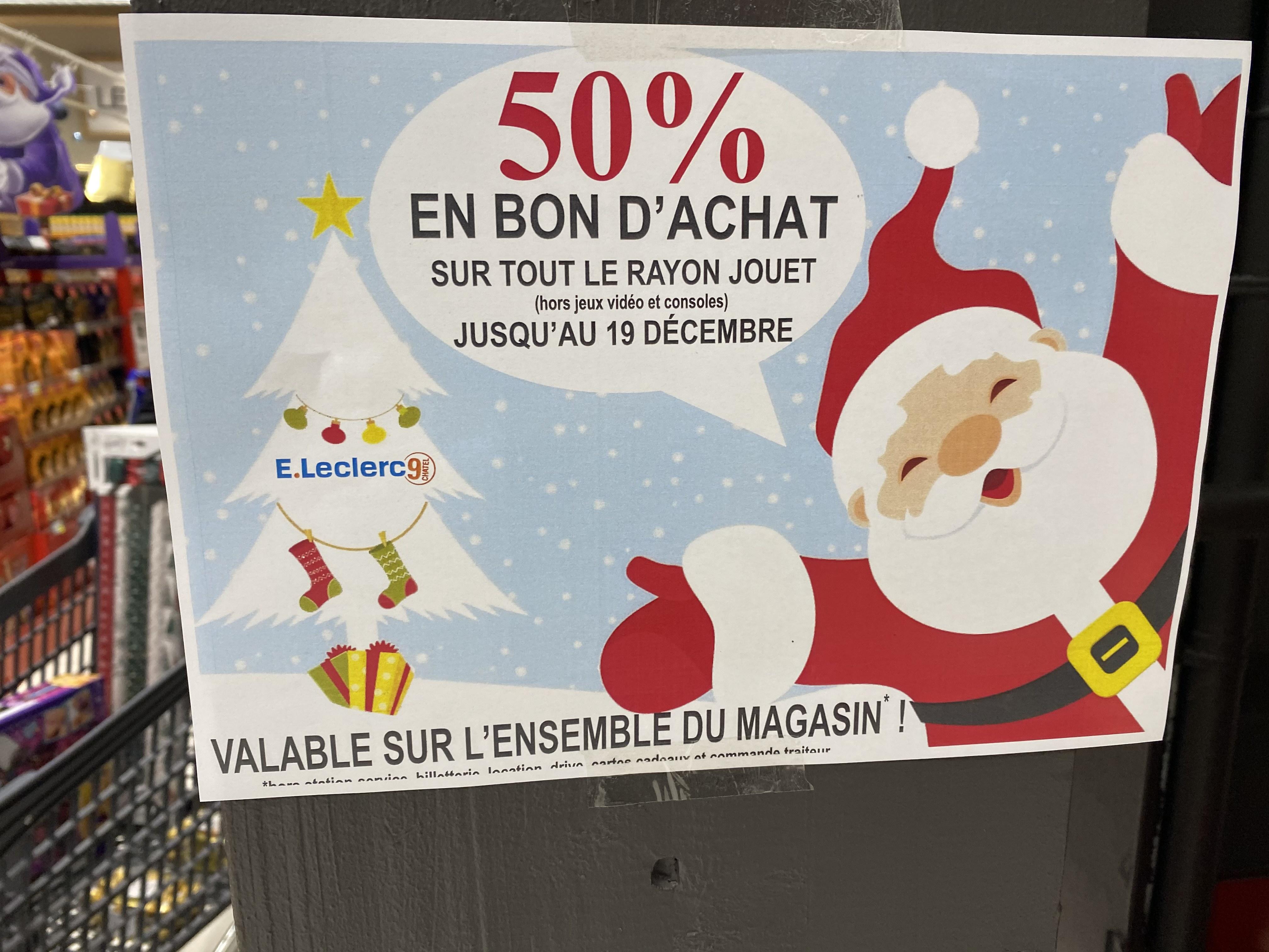 50% de réduction via la carte fidélité sur tout le rayon jouets - Neufchâtel-en-Bray (76)