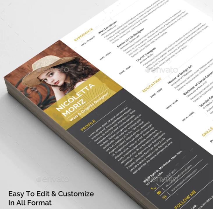 Fichier CV disponible gratuitement (plusieurs plate-formes) - GraphicRiver.net