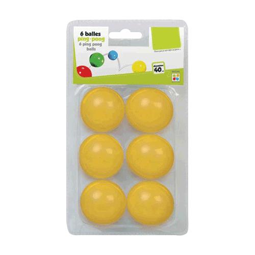 Lot de 6 balles de ping-pong