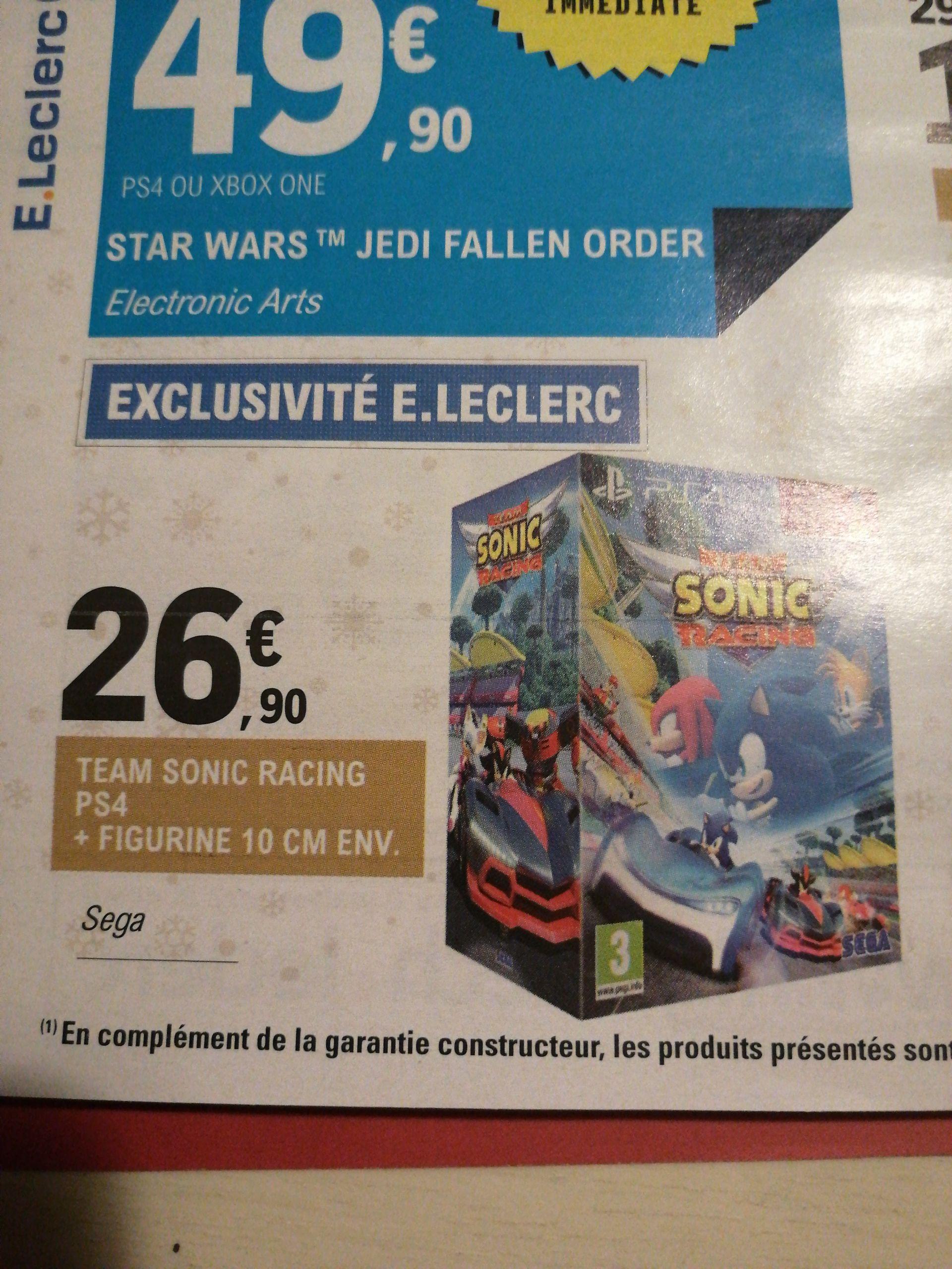Team Sonic Racing sur PS4 + figurine (10 cm)
