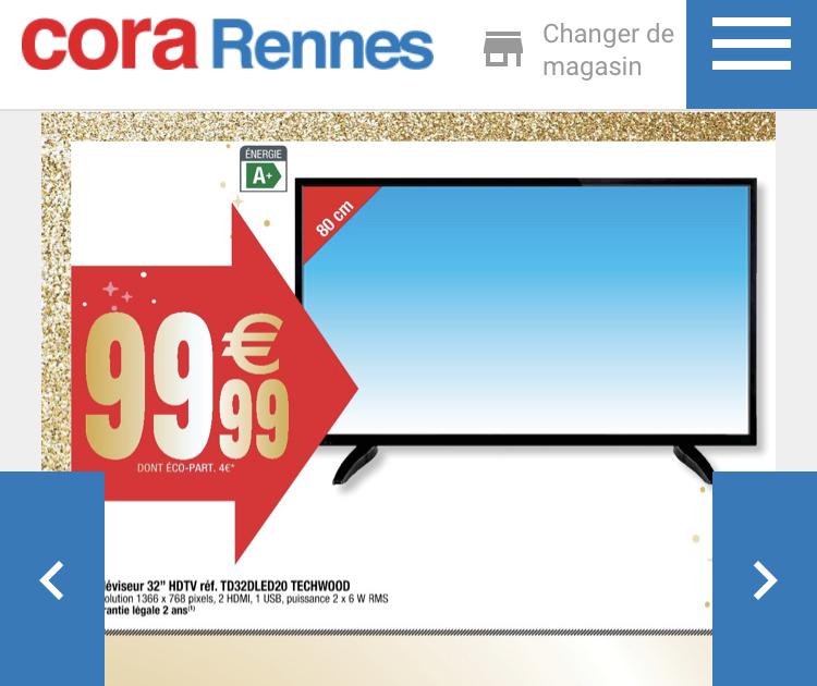 """TV 32"""" Techwood TD32DLED20 (HD) - Rennes (35)"""