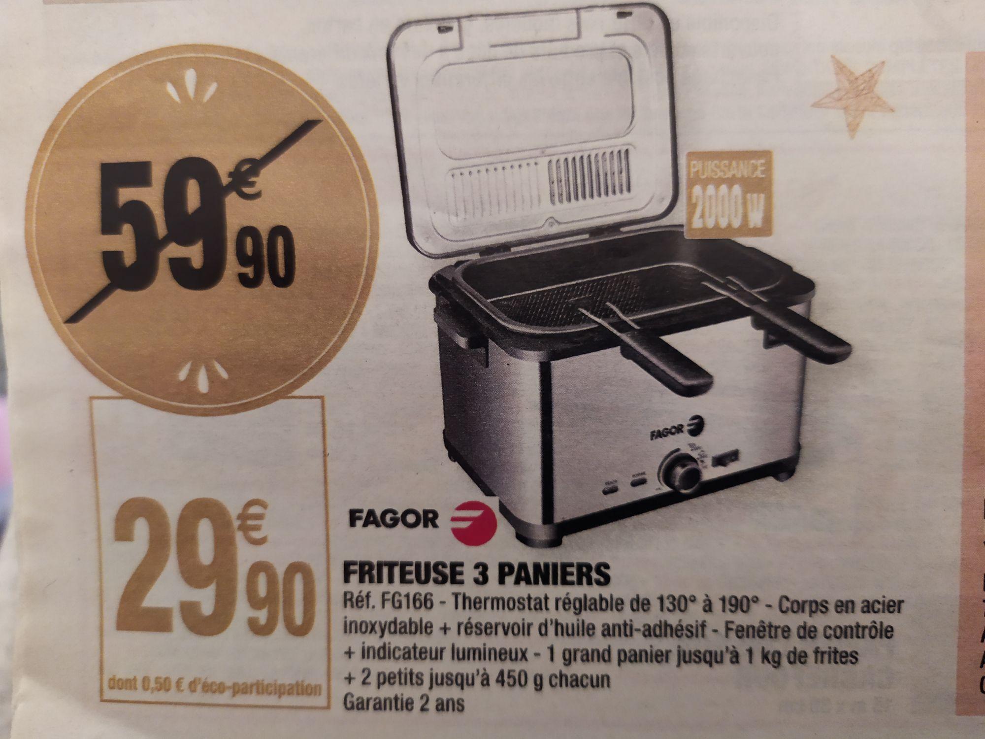 Friteuse 3 paniers Fagor FG166