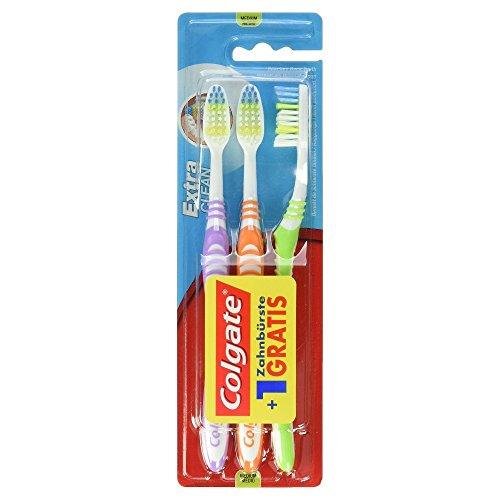 18 Brosses à dents (6 lots de 3) Colgate Palmolive Extra Clean Medium