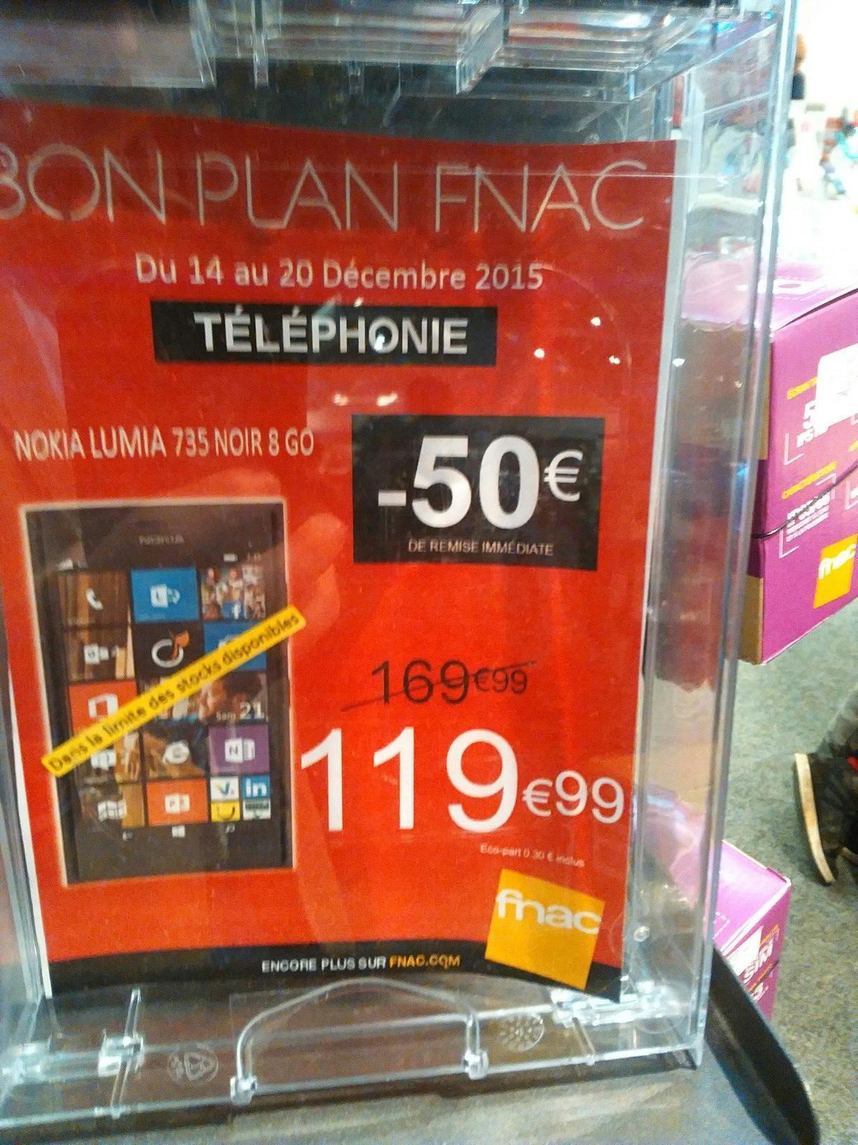 "Smartphone 4.7"" Lumia 735 8 Go"