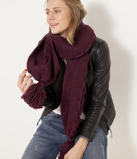 Écharpe chaude en tricot pour Femme