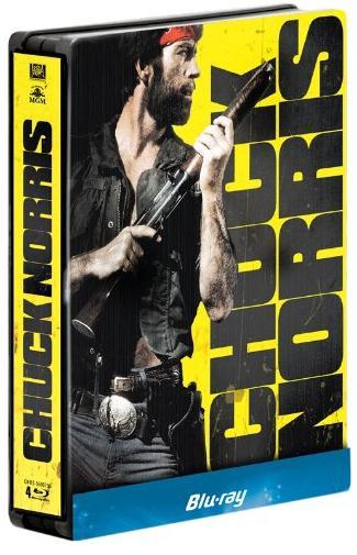 Coffret Blu-ray : Chuck Norris - Oeil pour oeil + Delta Force + Sale temps pour un flic + Portés disparus - Steelbook